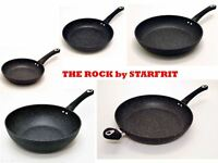 The ROCK by Starfrit Non Stick Cookware 20 24 28 32 cms Frying Pan or 28 cms Wok
