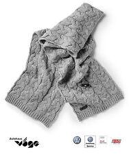 ORIGINAL VW écharpe gris-mélange,tricot épais,25% laine d'agneau hiver