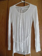 Converse One Star Womens Small Top Pintuck  White NWT