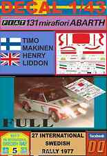 DECAL 1/43 FIAT 131 ABARTH T.MAKINEN SWEDISH R. 1977 (FULL) (01)