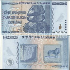 ZAMBIBWE AA $100 QUADRILLION SPOOF FANTASY SPECIMEN OF ZIMBABWE $100 TRILLION!