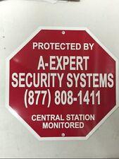 Metal Security Sign Home Security System Burglar Alarm Warning Gate Sign New