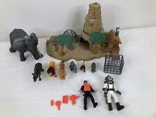 Animal Planet Safari Animal Playset Movable Elephant Rescue Cage Educational GUC