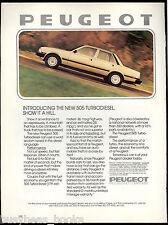 1981 PEUGEOT 505 advertisement, Peugeot 505 Turbodiesel