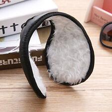 Ear Muffs Winter Warm Faux Leather Plush Earwarmer Behind The Head Band Brief