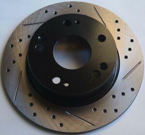 Fits 97-01 Acura Integra Type R Drill Slot Brake Rotors Rear