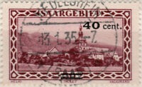 """SARRE / SAAR / SAARGEBIET - 1935 - """" MEDELSHEIM / * (SAAR) * """" sur Mi.178"""