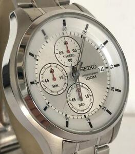 Seiko 4T57 Gents Chronograph Quartz Watch - Excellent Condition
