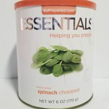Emergency Essentials Freeze Dried Food Spinach Chopped #10 Can