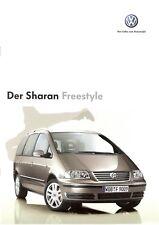 Prospekt / Brochure VW Sharan Freestyle 10/2005