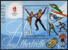 Ungheria 1991 SG #MS 4078 Giochi Olimpici Invernali MNH M / S #D 2659