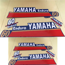 Yamaha 60hp Enduro Outboard motor Decal Kit - Reproduction Decals in Stock