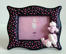 ReTrO DeSiGn! Pink Poodle Polka Dot Picture Frames Set of 4 - 2 Oval - 2 Square