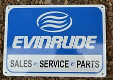 Evinrude Service Sales Sign Marina Outboard Boat Motor Parts Mechanic Shop 10day
