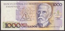 BRAZIL - 1 Cruzado Novo on 1000 - P 216  LOT 2  PCS  Uncirculated Banknotes