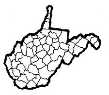 West Virginia State Map Patch