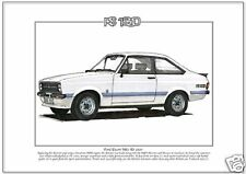 FORD ESCORT Mk2 RS1800 Fine Art Print - A4 size picture