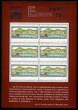 FOGLIETTO EUROPA MOSTRA FILATELICA INTERNAZIONALE NAPOLI 1978 GRANDI DIMENSIONI