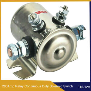 12V Heavy Duty Continuous Duty Solenoid Relay Switch 200Amp Winch Golf Cart