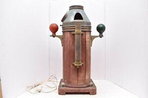 Antique Wooden BINNACLE SHIPS Compass ES RITCHIE BOSTON LAMP Nautical maritime