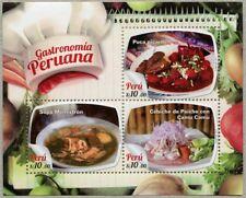 Peru 2017 Block Gastronomie Einheimische Speisen Gastronomy Postfrisch MNH