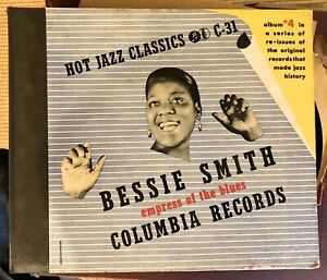 BESSIE SMITH - EMPRESS of the BLUES - 1940 Columbia 4-record Set C-31