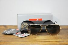 Ray-Ban Aviator Sunglasses RB3025 001/51 Light Brown Lens Gold Frame 62mm