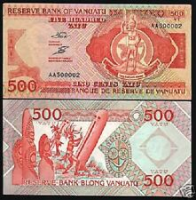 Vanuatu 500 Vvatu P5 1993 *Aa*Prefix Log Drum Mask Unc Rare World Currency Note