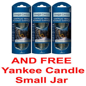 3 x Yankee Candle Scent Plug In Air Freshener (6 Refills) CANDLELIT CABIN