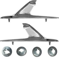 1961 62 63 64 Chevy Impala Scuff  Trim Plates Right /& Left w// Fisher Decals