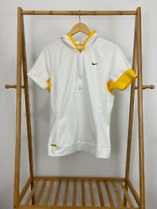 NIKE LIVESTRONG Ladies White Hooded 1/3 Pullover Cycling Biking Jersey XL