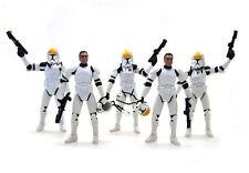 5 Star Wars Clone Republic Trooper Gun Ship Pilot Removable Helmet Figure UK