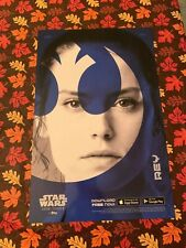 Star Wars Topps Last Jedi REY Lithograph Poster NYCC Exclusive Daisy Ridley NEW