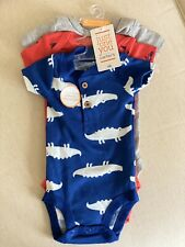 Just One You Made By Carter's Baby Newborn 3 Piece Set, Blue, Red, Gray