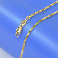 1PCS 16-30inch Fashion Jewelry 18K Gold Filled Necklaces Box Chains For Pendants