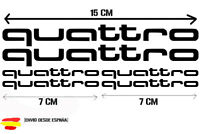 Audi quattro kit de 6 Tuning sticker, auto Fun pegatinas, sticker-Bomb