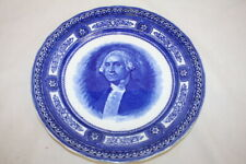 "Antique Royal Doulton Flow Blue Bohman George Washington 10"" Collector's Plate"
