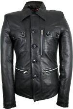 Damen Lederjacke Kurz Mantel Echtes Leder Taillierter Damen Schnitt Slim Fit