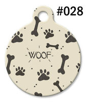 Pet Tags for Dogs & Cats | Personalized Custom Cool ID Tag | Bones Paw WOOF #028