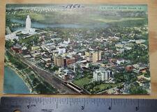 air view of Baton Rouge, LA linen picture postcard ppc circa 1953