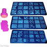 1 Kit Sello y Placa de Metal Estampado de Uñas Nail Stamp Decoration 17-32 Plate