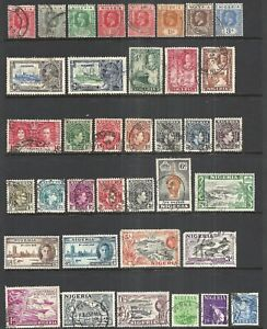 NIGERIA     VARIOUS MOSTLY USED ISSUES   1914 - 1961   CV $32.50