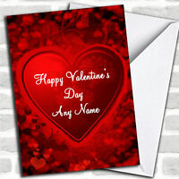 Red And Black Love Heart Romantic Personalized Valentine's Day Card