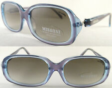 Stylish & Vintage MISSONI Ladies Sunglasses, Acetat/Blue/Lilac/Transparent -Rare