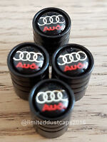 AUDI car Valve Alloy wheel dust Caps All models S LINE RS5 RS7 S3 A1 NON STICK