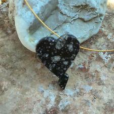 Impaktit - Herz Anhänger Norwegen Meteorit-Einschlag Gardnos Norwegen 21g