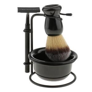 4 in 1 Shaving Set With Safety Razor & Brush& Stand Holder & Soap Bowl Mug