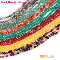 """Tiny Gemstone 3mm Faceted Seed Loose Small Spacer Beads for Jewelry Making  15"""""""