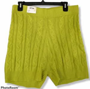 Fashion Nova Shorts Womens Extra Large Sweater Knit Cozy Living Green Stretch