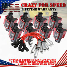 8x UF271 Ignition Coils + 8x 748UU Spark Wires For Chevrolet GMC LS1 LS2 V8 D581